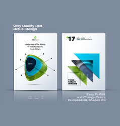 abstract annual report business template vector image