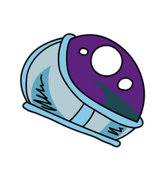astronaut helmet cartoon hand drawn image vector image