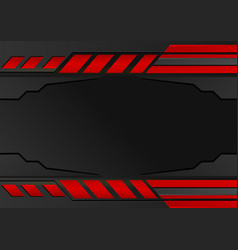 black and red stripes abstract background with vector image