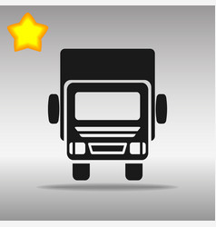 black truck lorry icon button logo symbol concept vector image vector image