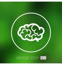 Brain icon mind medical brainstorm head vector