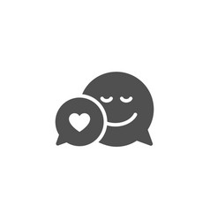Comic speech bubble with smile simple icon vector