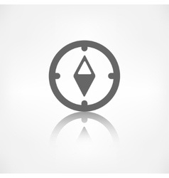Compass web icon vector