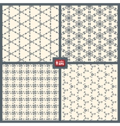 Dotted Patterns Set vector image