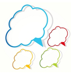 empty cloud frame sticker vector image vector image