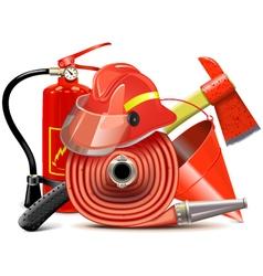 Fire prevention equipment concept vector