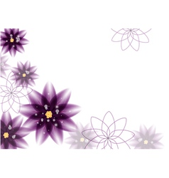 Floral background - purple flowers vector