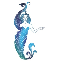 Girl mermaid vector