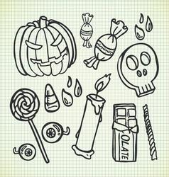 halloween stuff vector image vector image