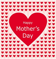 happy mothers day love letter with red heart vector image vector image