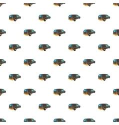 Hearse pattern cartoon style vector