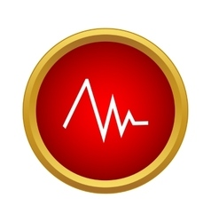 Heart rate icon simple style vector