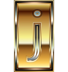 Ingot Font Letter j vector image