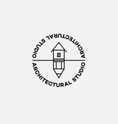 logo in outline style vector image vector image