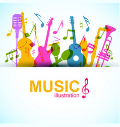 Music graphic template vector