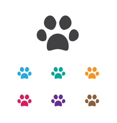 Of zoology symbol on cat paw vector