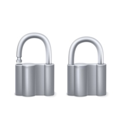 Padlocks isolated on white vector image vector image