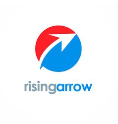 rising arrow logo vector image