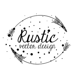 rustic style design vector image