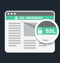 Secure online payment icon - ssl green bar vector