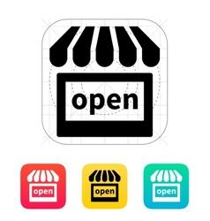 Shop open icon vector
