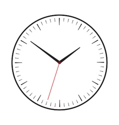 Symbol of clock with red second hand vector