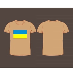 t-shirt with flag of Ukraine vector image