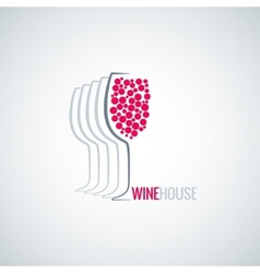 wine glass abstract background vector image