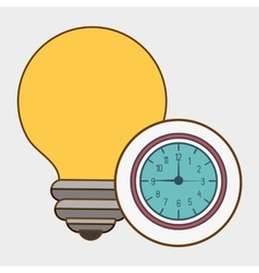 idea watch time clock vector image