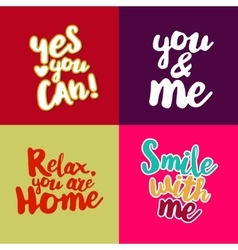 Lifestyle quotes collection vector
