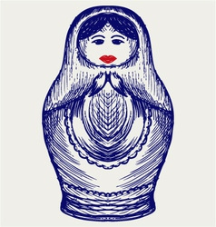 Russian dolls vector image