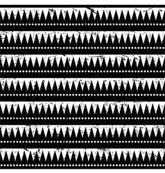 Seamless aztec tribal pattern- grunge retro style vector