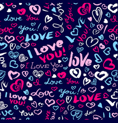 Valentine day or wedding seamless pattern with vector
