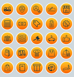 Ecommerce icons set collection of peg bookshelf vector