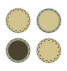 Circle sticker vintage promotions or qualities vector