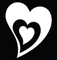 Heart black and white vector