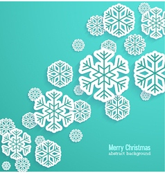 Christmas background with paper snowflakes vector