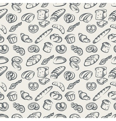 Background with bread vector