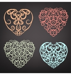 Heart pattern set vector