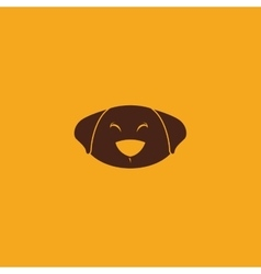 Cute dog face vector