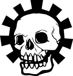 Gear skull full vector