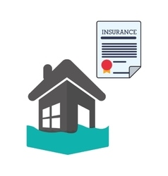 Insurance design house icon isolated vector image