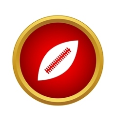 Professional rugby ball icon simple style vector