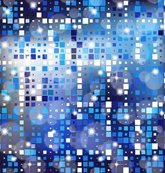 Abstract blur bokeh mosaic bright color background vector image