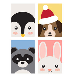 animals poster collection on vector image vector image