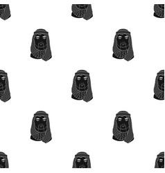 Arabhuman race single icon in black style vector
