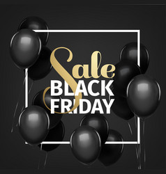 Black friday sale gold lettering holiday shopping vector
