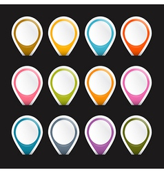 Colorful Empty Labels Set Isolated on Black vector image vector image