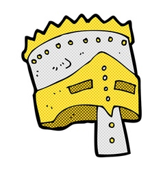 Comic cartoon kings armor vector