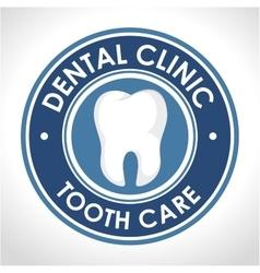 Dental clinic seal icon vector